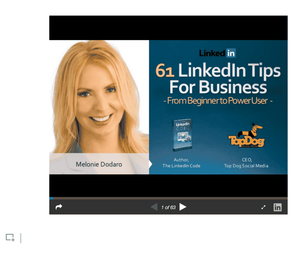 Add the link to slide platforms such as SlideShare, Prezi, inVision and more to give your posts added value.