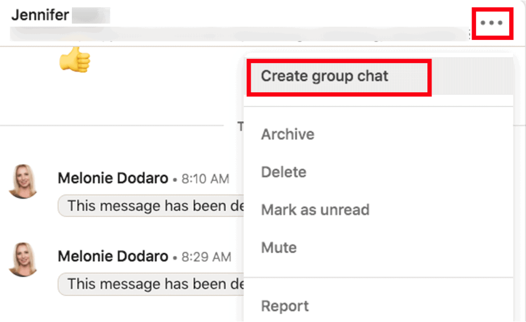 Initiate a group chat on LinkedIn.