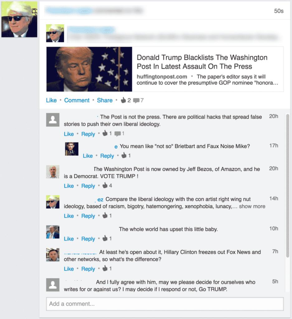 A political LinkedIn post.