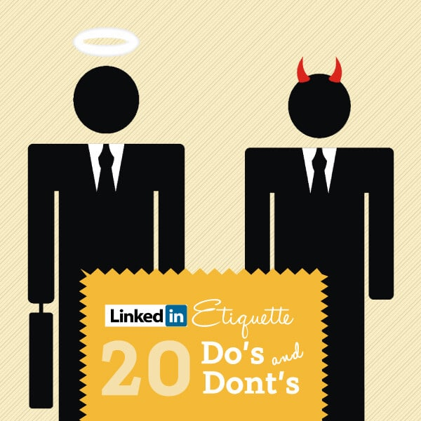 LinkedIn Etiquette Guide 2017: 20 Do's & Don'ts [INFOGRAPHIC]