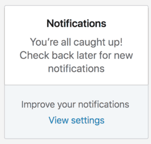 You have no new notifications.