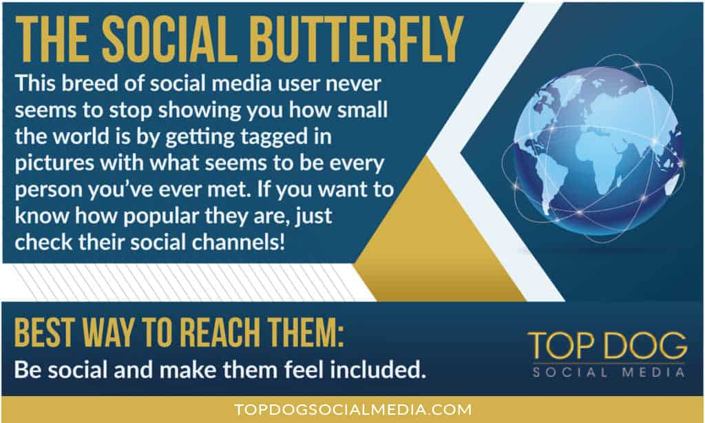 10 Types of Social Media Users: The Social Butterfly
