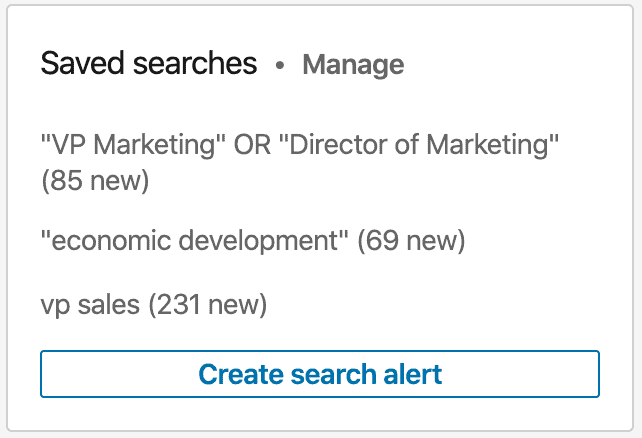 Create a saved search on LinkedIn
